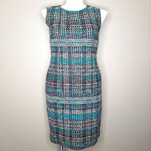 St. John boucle tweed sheath dress